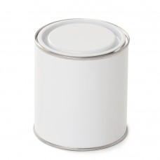 1 litre White Lever Lid Tin - Internally Plain