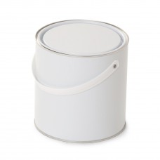 2.5 litre White Lever Lid Tin - Internally Plain