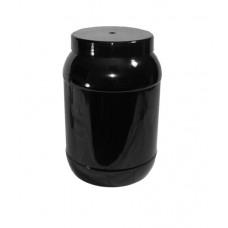 PET 2434ML ROUND 2.25L BLACK JAR 110MM