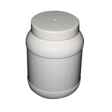 PET 2434ML ROUND 2.25L WHITE JAR 110MM