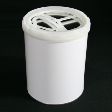UN Approved 1 litre White Lever Lid Tin - Internally Plain