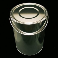 Round Tinplate Lever Lid Tin with Welded Side Seams - 10 Litre
