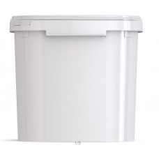 35 litre White Square Bucket (JETQ 350)