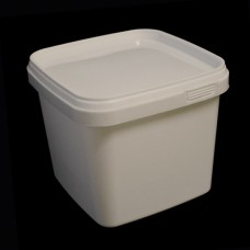 1.1 litre White Square Bucket (JETS 10)