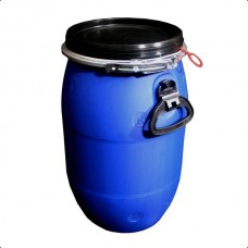 LARGE PLASTIC OPEN TOP DRUM - 30 LITRE