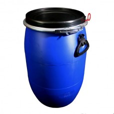 LARGE PLASTIC OPEN TOP DRUM - 60 LITRE