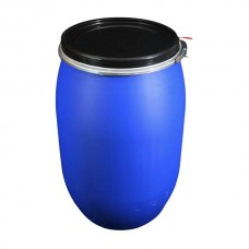 LARGE PLASTIC OPEN TOP DRUM - 120 LITRE